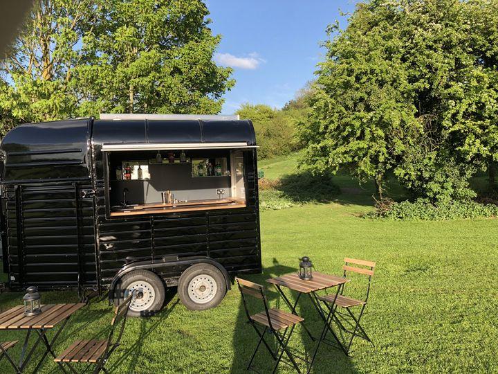 Horse trailer mobile bar