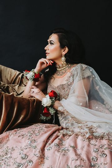Bride using booth