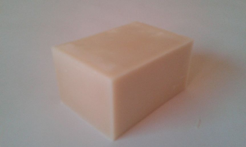 Plain milk soap