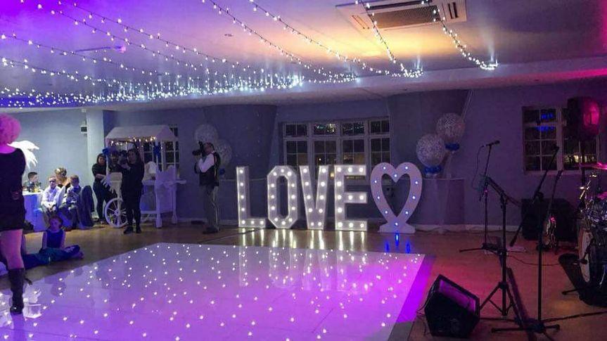 LOVE heart & LED dance floor