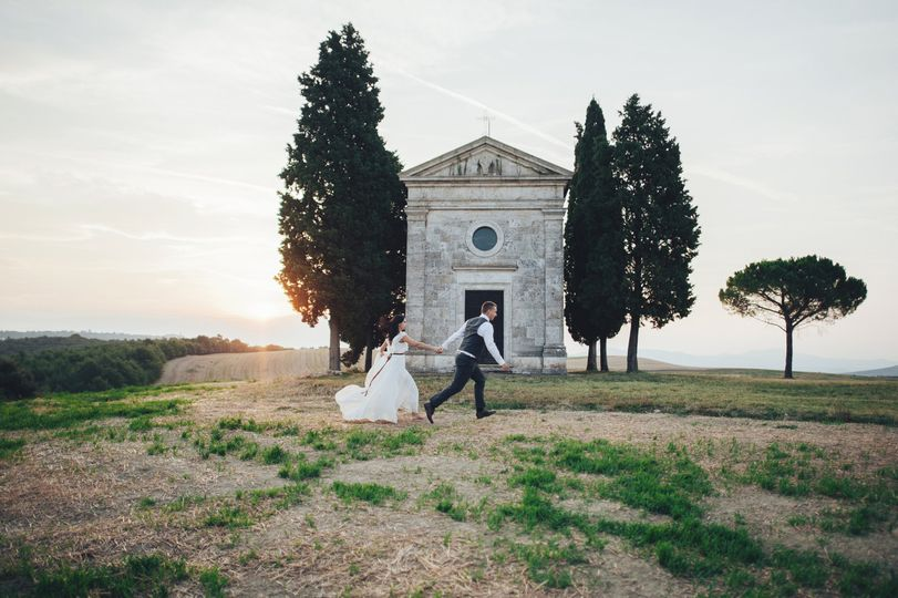 Married couple in Tuscany