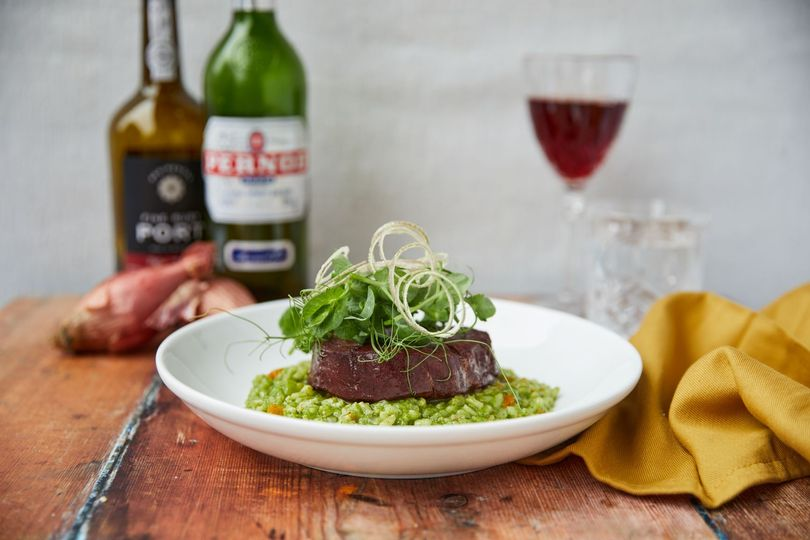 Fillet of beef with risotto