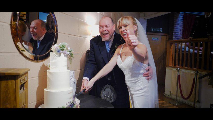 Cake cutting - Calum and Joanne