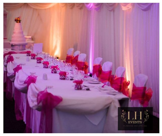 Pink and orange marquee