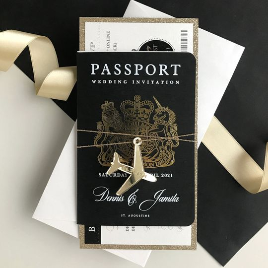 Black & Gold Passport