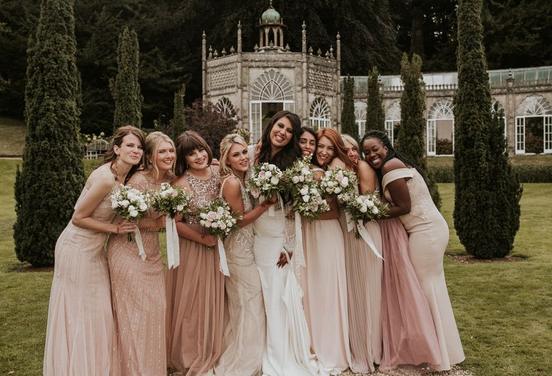 Bride and her maids, Sezincote