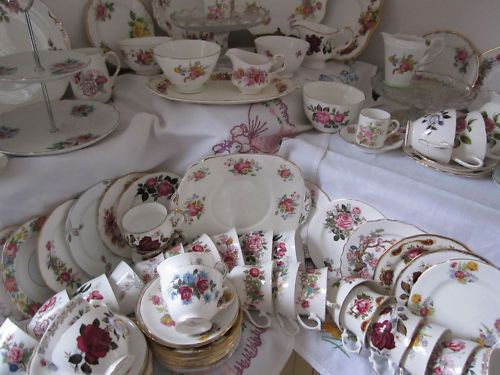 Some of our gorgeous,vintage china