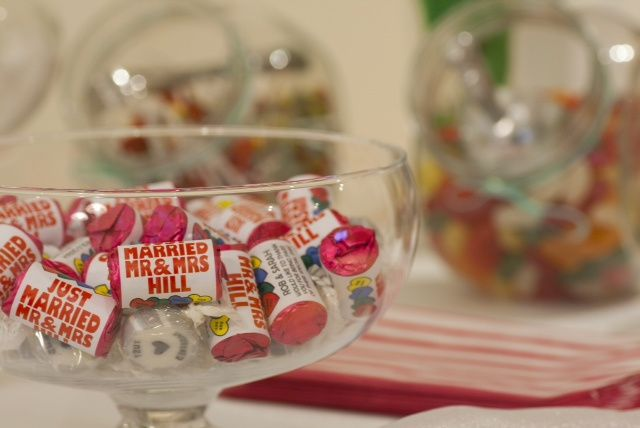 Sweets can be personalised