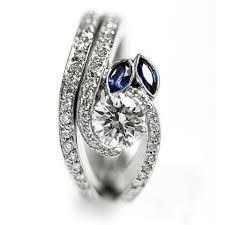 Shaped diamond rings