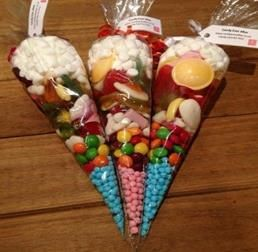 Colourful candy bag