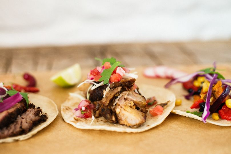 Mexican street style tacos