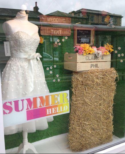 Summer bridal window