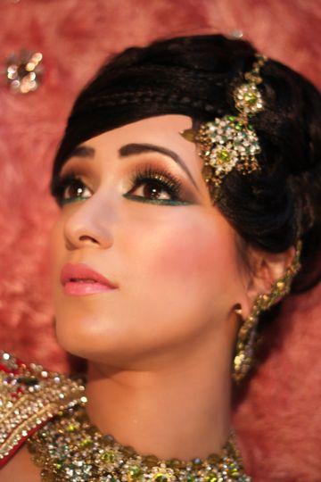 Asian bridal makeup and hair