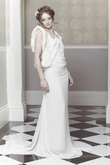 Champagne Relaxed wedding dres