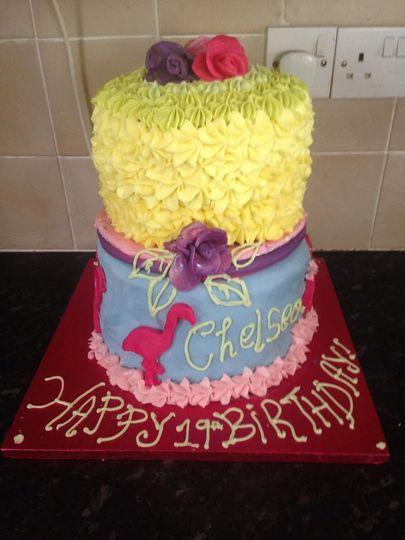 2 Tier Tropical Cake.