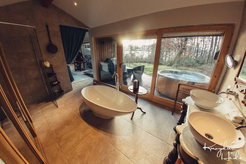 Rustic and refined spa
