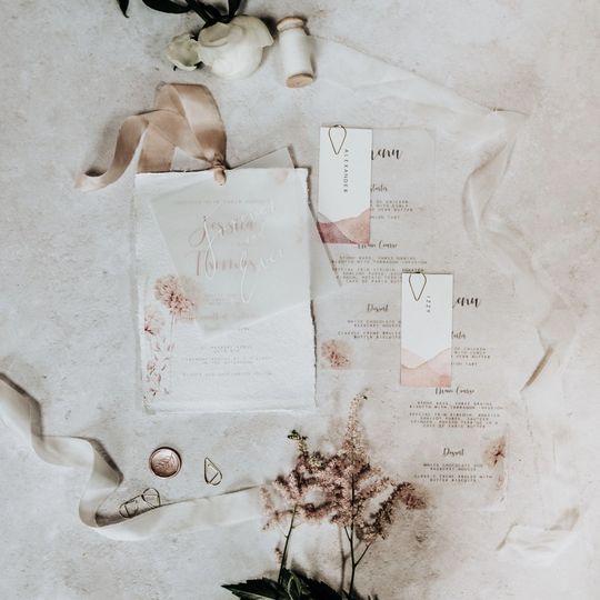 Handmade paper and vellum