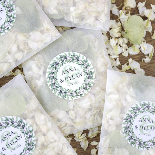 Personalised Confetti Sachets