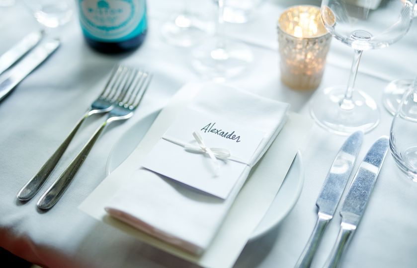 Dressed table detail