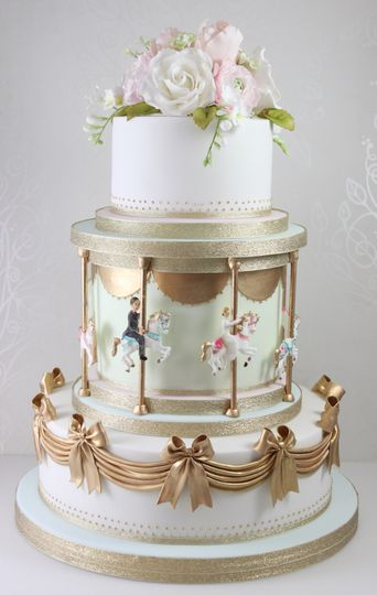 Carousel wedding cake