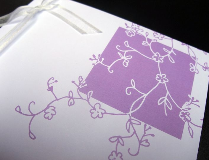 Blossom invitations