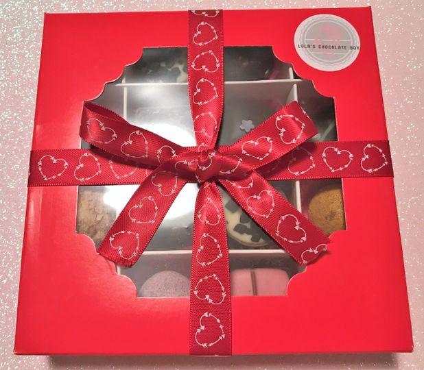Red box and ribbon