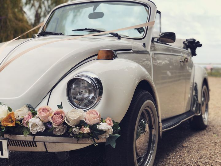 Wedding vehicles with VW Brides