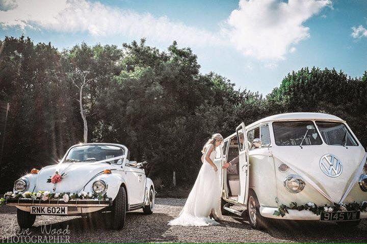 Wedding transportation with VW Brides