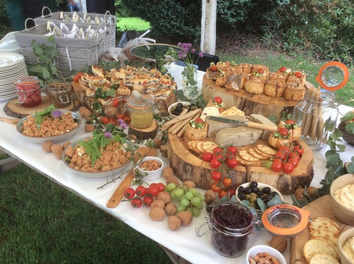 Rustic buffet by Fordhall Farm