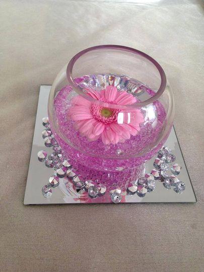 Fresh flower centrepiece