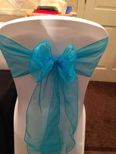 Lycra chair cover with 1 sash