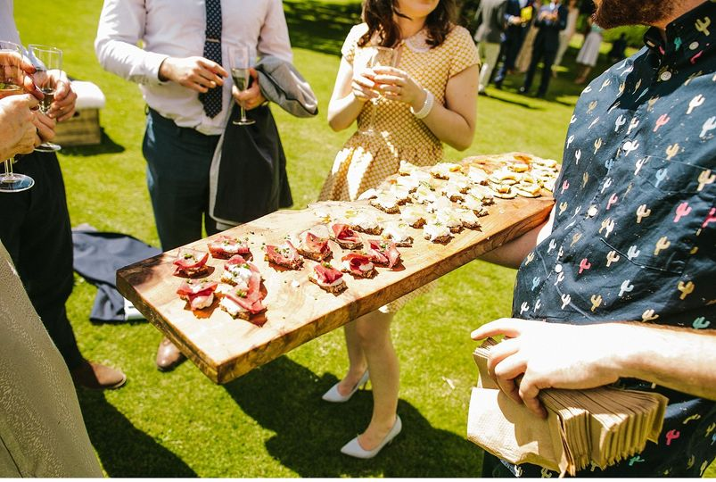 British Canapes for days