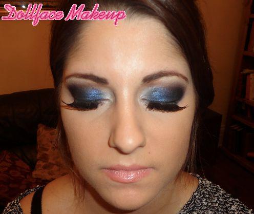 Client: Smokey navy eyes