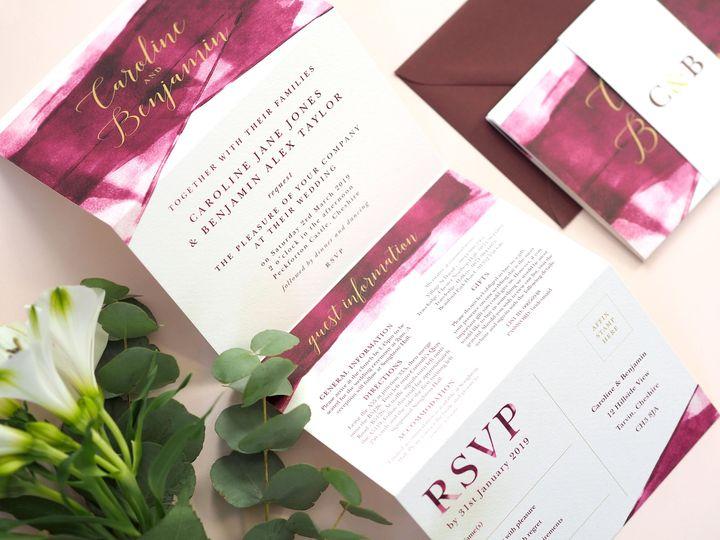 Grace concertina invitations