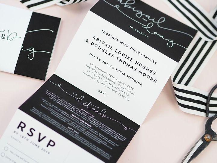 Kate concertina invitations
