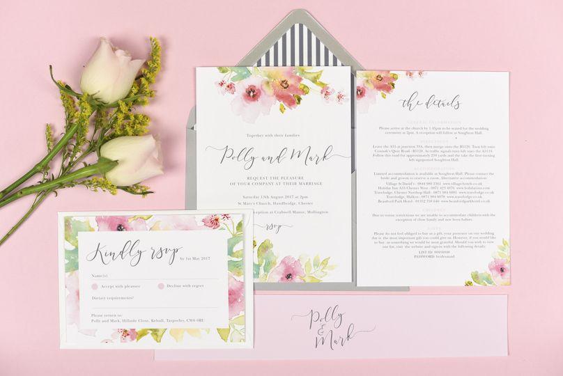 Juliette floral invitations