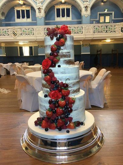 Fruit-inspired cake