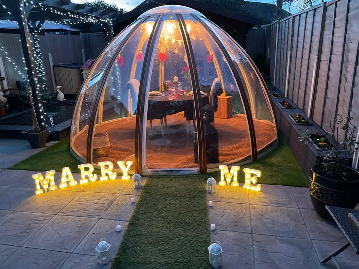 Wedding Proposal Dome Hire