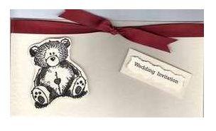Wedding bear invitation