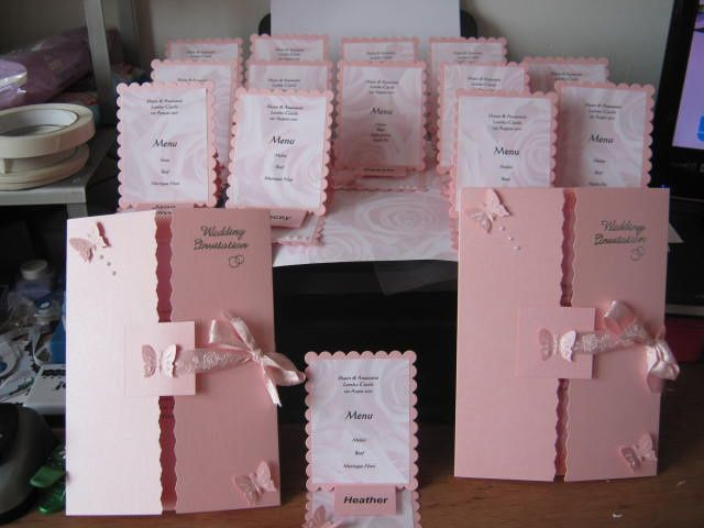 Wedding invite and place settings