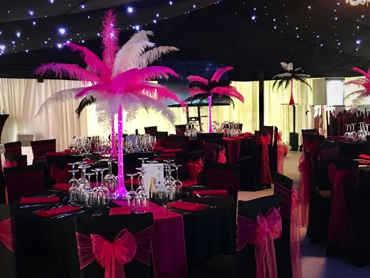 Hot Pink, Black & White Party