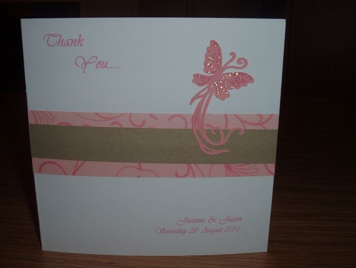 Flutterby thank you card