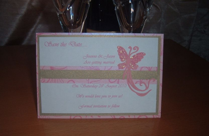 Flutterby save the date