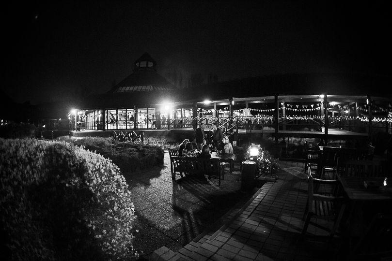 Moor Hall Boardwalk at Night