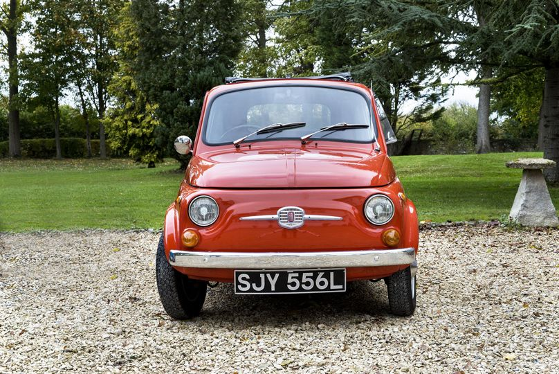 Fiat 500 vintage wedding car