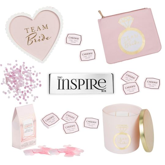 Pink-themed gift set