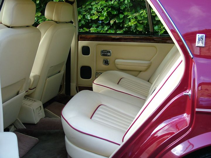 The rear interior of our Rolls Royce Silver Spirit II