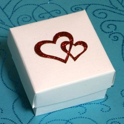 Red Sparkle Heart Box