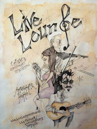 Live Lounge caricature
