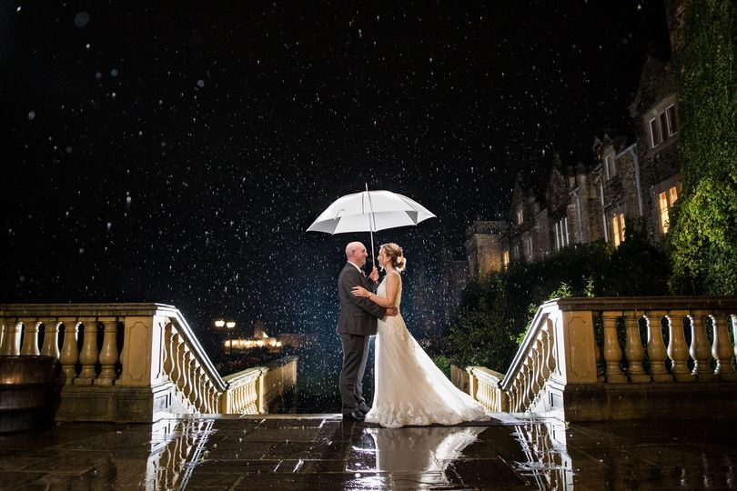 Under an umbrella - Philip Bedford Wedding Photography